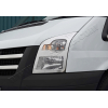 Накладки на передние фонари (нерж., 2 шт.) для Ford Transit 2006-2013 (Omsa Prime, 2621102)
