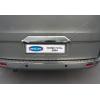 Накладка крышки багажника (над номером, нерж.) для Ford Tourneo Custom 2012+ (Omsa Prime, 2624052)
