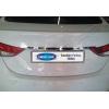 Накладка крышки багажника (над номером, нерж.) для Hyundai Elantra IV SD 2011-2015 (Omsa Prime, 3206052)