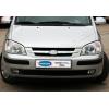 Накладки на решетку радиатора (нерж., 2 шт.) для Hyundai Getz (5D) HB 2002-2011 (Omsa Prime, 3201081)