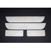 Накладки на пороги (нерж.) для Hyundai H1 2008+ (Omsa Prime, 3221092)