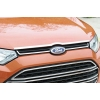 Хром накладка на передний край капота (кромка капота) для Ford Ecosport 2014+ (Kindle, FC-C32)