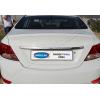 Накладка крышки багажника (над номером, нерж.) для Hyundai Accent/Solaris SD 2011+ (Omsa Prime, 3214053)