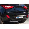 Накладка над номером на крышку багажника (нерж.) для Hyundai i30 HB 2012+ (Omsa Prime, 3215052)