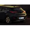 Накладка на задний бампер (нерж., 1 шт.) для Hyundai i30 (5D) HB 2012+ (Omsa Prime, 3215094)