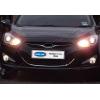 Накладка на решетку радиатора (нерж., U-type) для Hyundai i40 2011+ (Omsa Prime, 3216082)