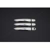 Накладки на дверные ручки (нерж., 3-шт.) для Mercedes-Benz Citan (3D) 2013+ (Omsa Prime, 6122043)