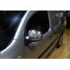 Накладки на зеркала (нерж., 2 шт.) для Mercedes-Benz Citan 2013+ (Omsa Prime, 6122113)