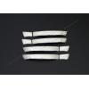 Накладки на дверные ручки (нерж., Deco) для Volkswagen Touareg 2010+ (Omsa Prime, 7533045)