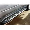 Боковые пороги (Saphire V2) для PEUGEOT 4007 2010+ (Can-Otomotive, PE40.47.5000)