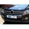 Накладки на решетку радиатора (нерж., 4 шт.) для Volkswagen Amarok 2010+ (Omsa Prime, 7535081)