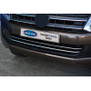 Накладки на передний бампер (нерж., 2 шт.) для Volkswagen Amarok 2010+ (Omsa Prime, 7535084)