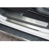 Накладки на пороги (нерж.) для VW Amarok 2009+ (Omsa Prime, 7535091)