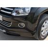 Окантовка на противотуманные фонари (нерж., 2-шт.) для Volkswagen Amarok 2010+ (Omsa Prime, 7535103)