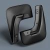 Брызговики задние (полиуретан) для FIAT Linea 2007+ (Novline, EXP.NLF.15.19.E10)