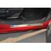 Накладки на пороги (нерж.) для Nissan Juke (F15) 2010+ (Omsa Prime, 5008092)