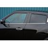 Нижние молдинги стекол (нерж., 4 шт.) для Nissan Juke 2010+ (Omsa Prime, 5008141)