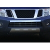 Накладка на передний бампер (нерж., 1 шт.) для Nissan Navara 2006-2015 (Omsa Prime, 5003081)