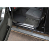Накладки на пороги (нерж.) для Nissan Navara (D40) 2005-2015 (Omsa Prime, 5003091)