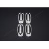Накладки на дверные ручки (нерж., 8-шт.) для Opel Combo D 2011+ (Omsa Prime, 2521043)