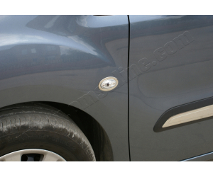 Окантовка на повторители поворота (нерж., 2 шт.) для Peugeot 206/ 206 Plus 1998-2012 (Omsa Prime, 9501151)