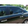 Нижние молдинги стекол (нерж., 6 шт.) для Peugeot 301 SD 2012+ (Omsa Prime, 5715141)