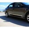 Молдинги на двери (нерж., 4 шт.) для Peugeot 301 2012+ (Omsa Prime, 9600099)
