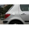Накладка на лючок бензобака (нерж.) для Peugeot 307 (5D) HB/SW 2001-2008 (Omsa Prime, 5703071)