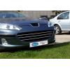 Накладки на решетку радиатора (нерж., 3 шт.) для Peugeot 407 SD/SW 2004-2010 (Omsa Prime, 5704081)