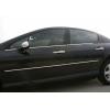 Нижние молдинги стекол (нерж., 4 шт.) для Peugeot 407 SD/SW 2004-2010 (Omsa Prime, 5704141)
