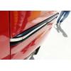 Молдинг под сдвижную дверь (нерж., 2 шт.) для Peugeot Bipper 2008+ (Omsa Prime, 2521132)