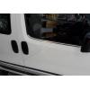 Нижние молдинги стекол (нерж., 2 шт.) для Peugeot Bipper 2008+ (Omsa Prime, 2521141)