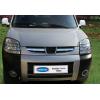 Накладки на решетку радиатора (нерж., 2 шт.) для Peugeot Partner 2004-2008 (Omsa Prime, 5705081)