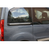 Молдинг под сдвижную дверь (нерж., 2 шт.) для Peugeot Partner Tepee 2008+ (Omsa Prime, 5723132)