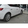 Молдинг дверной (нерж., 4-шт.) для Seat Leon III (5D) HB 2012+ (Omsa Prime, 6511131)