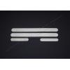 Накладки на пороги (нерж.) для Toyota Yaris III (5D) HB 2012+ (Omsa Prime, 7016091)