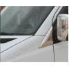 Накладка на стекло косынку (треугольник, нерж.) для Volkswagen Crafter 2006+ (Omsa Prime, 4724113)