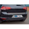 Хром накладка на кромку багажника (нерж.) для Volkswagen Golf VII (5D) HB 2013+ (Omsa Prime, 7515053)
