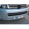 Накладка на передний бампер (нерж., 1 шт.) для Volkswagen Multivan (T5) 2003-2010 (Omsa Prime, 7525082)