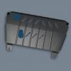 Защита картера двигателя для CITROEN С4 2004+/C4 Picasso 2006+/ Berling (МКПП/АКПП) (Novline, C000000029)