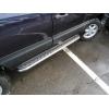 Боковые пороги D60 с листом из нержавеющей стали для Chevrolet Niva 2003-2010 (UA-TUNING, CHNVA.03.RBLN)