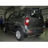 Боковые пороги D42 с листом из алюминия для Chevrolet Niva 2009+ (UA-TUNING, CHNVA.09.RBLA)