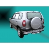 Задний порог  D42 с листом из нержавеющей стали для Chevrolet Niva 2003-2010 (UA-TUNING, CHNVA.03.RBZN)