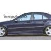 Аэродинамические накладки на пороги для Mercedes C-Class (W203) 2000-2003 (DT, 02290)