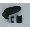 Подлокотник (черный, виниловый) для Nissan Tiida 2007-2013 (ASP, BNSTD0520-NL)