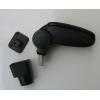 Подлокотник (черный, виниловый) для Chevrolet Aveo/ZAZ Vida 2005+ (ASP, BCVLV6H20-N)