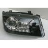 Передняя альтернативная  черная оптика для Volkswagen Bora 1998-2005 (JUNYAN, HU314EM-00-1-E-01)