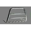 Защита передняя высокая с клыками (с логотипом) D60 для NISSAN NP 300 2007+ (Can Otomotiv, NINP.07.TVFRSGL6)