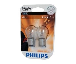 Авто-лампы P21/4W 12V 21/4W BAZ15D (ДВУХНИТ) 1 шт. (Philips, PS 12594 CP)
