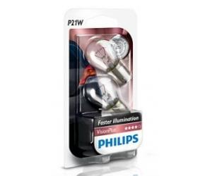 Авто-лампы P21W 12V 21W BA15S VISIONPLUS 2 шт. (Philips, PS 12498 VP B2)